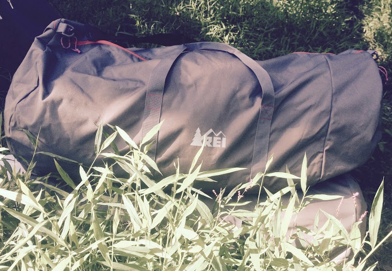 REI duffle bag #thriftycampers