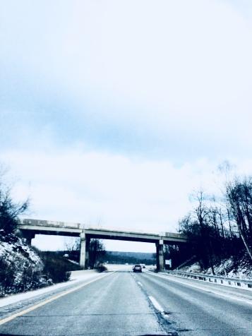 Snowy Bridge - Thrifty Campers
