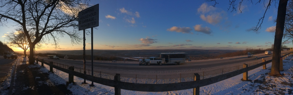 Panoramic Sunset - Thrifty Campers