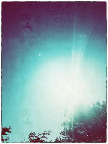 Vintage photo sun