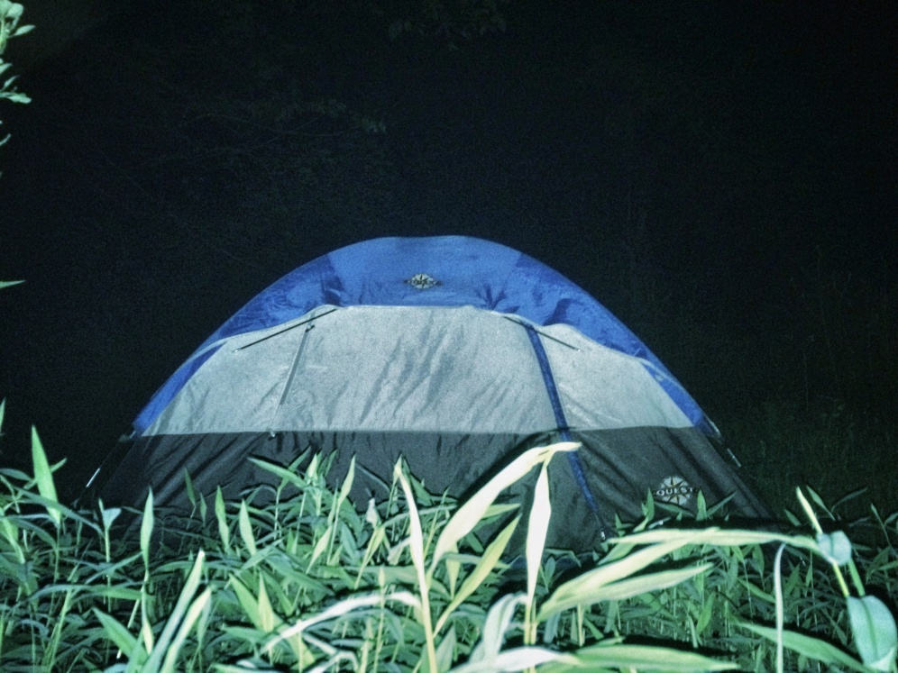 Camping in a tent - Thrifty Campers